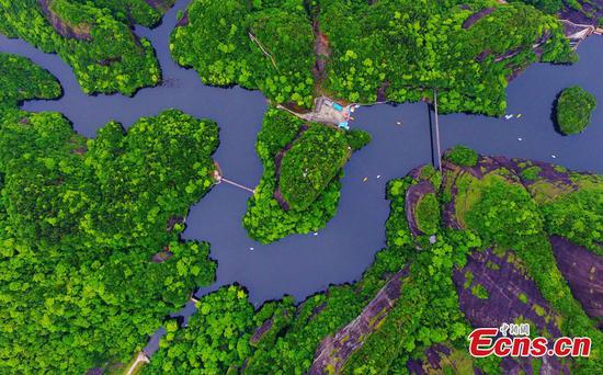 Aerial photos show beautiful landscape in Jiangxi