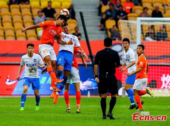 Wuhan Zall stumbles to 1-1 with Tianjin TEDA