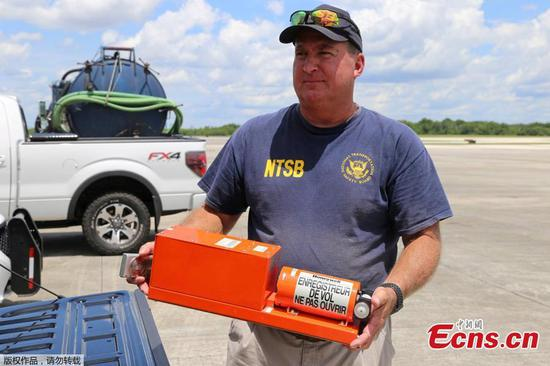 Black box from Boeing 737 sliding off runway into St Johns River recovered