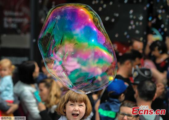 Bubble Parade held in Romania