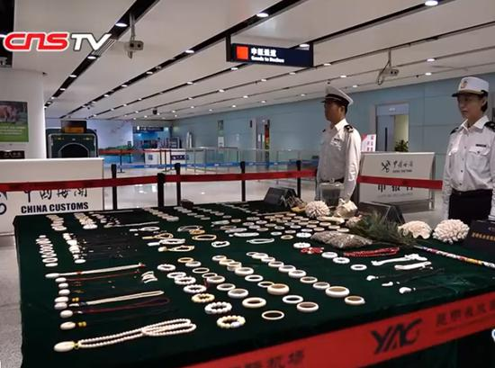 Kunming Customs seize more than 200 ivory products