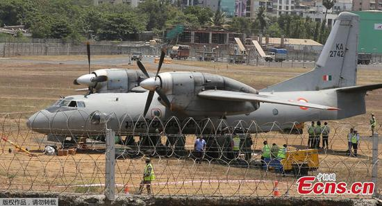 Indian Air Force AN-32 transport aircraft overshoots runway at Mumbai airport