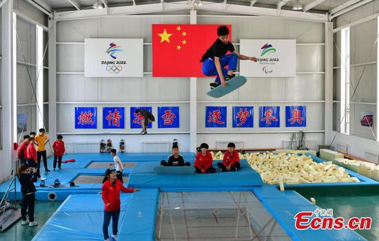 Zhangjiakou school trains more than 200 competitive skiers