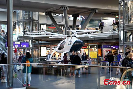 German firm shows drone taxi