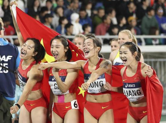 2019 IAAF World Relay: China win silver in women's 4x200m event, break Asian record