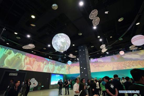 People visit ecological and meteorological house during the