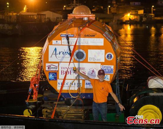 72-year-old completes journey across the Atlantic in a barrel