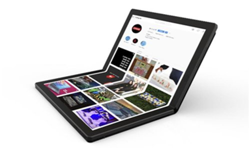 Lenovo releases world's first laptop with foldable screen