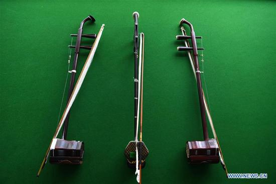 Chinese traditional two-stringed bowed musical instrument Erhu