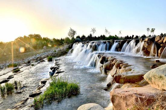Gansu waterfall a wonderful sight