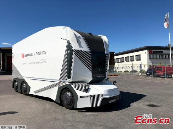 Driverless electric truck starts deliveries on Swedish road