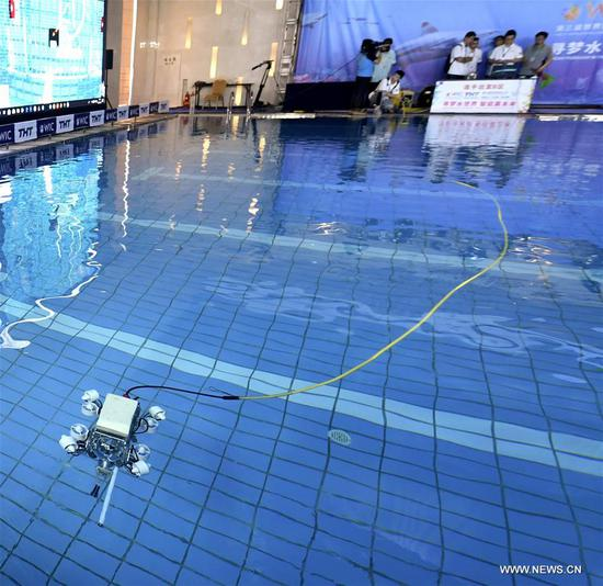 World Intelligence Underwater Robots Challenge opens in Tianjin