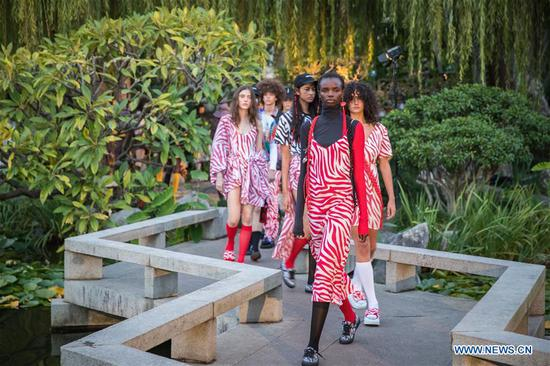 Fashion Week Australia presented at Chinese Garden of Friendship in Sydney