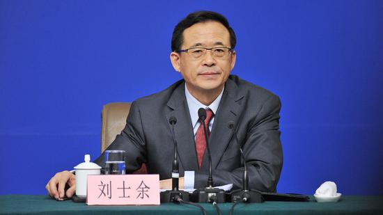 Former China Securities Regulatory Commission  chief Liu Shiyu. (CGTN)