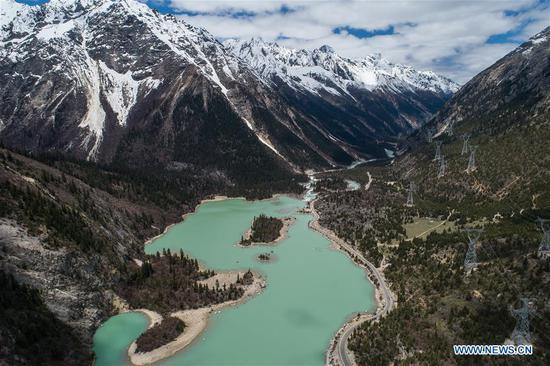 水果机西藏拉格湖风光