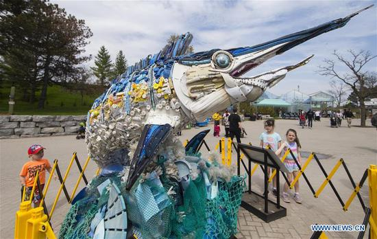 Exhibition of 'Washed Ashore: Art to Save the Sea' held at Toronto Zoo in Canada