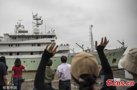 Vessel Shiyan 3 returns to Guangzhou after 62 days