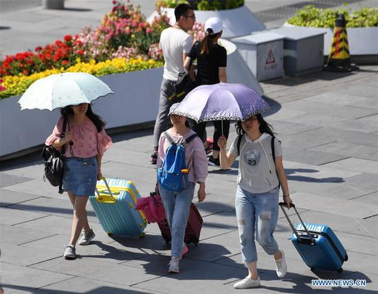 Yellow alert issued for high temperatures over next four days in Beijing