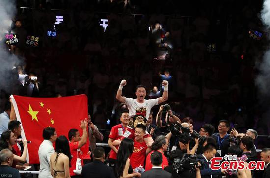 China's Xu Can successfully defends WBA world featherweight title