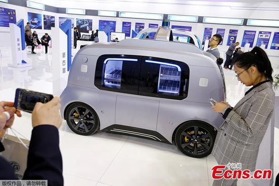 Chinese carmaker begins mass production of driverless logistics vehicles
