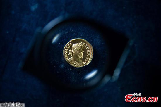Rare ancient Roman gold coin to be auctioned in London