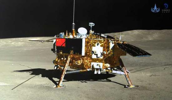 The lander of the Chang'e-4 probe (File photo: China National Space Administration)