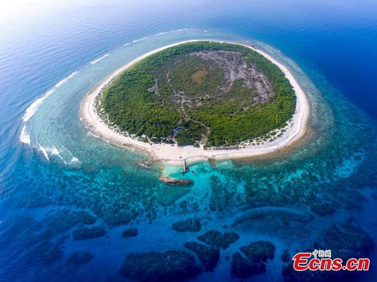 Beautiful scenery of South China's Ganquan Island