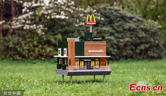 World's smallest McDonald's just opened, but only bees are invited