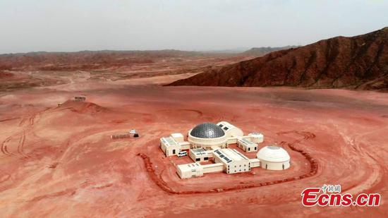 Inside view of Mars simulation base in Gansu