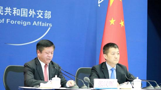 China's Vice Foreign Minister Zhang Hanhui briefs media on President Xi Jinping's upcoming visit to Russia in Beijing, May 30, 2019. /Photo via people.com.cn