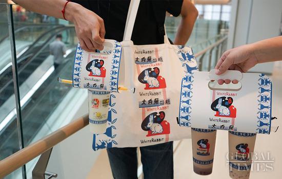 """跳跃回忆:""""白兔""""快闪奶茶店在上海开业"""