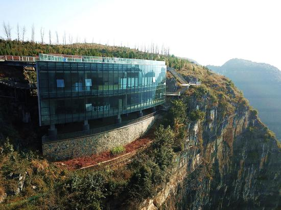 Art museum built on the cliff offers spectacular views