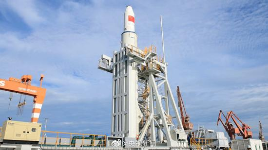 The Long March 11 carrier rocket. (Photo/CCTV)