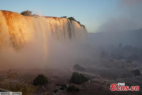Water volume of Iguacu falls surges due to heavy rainfall