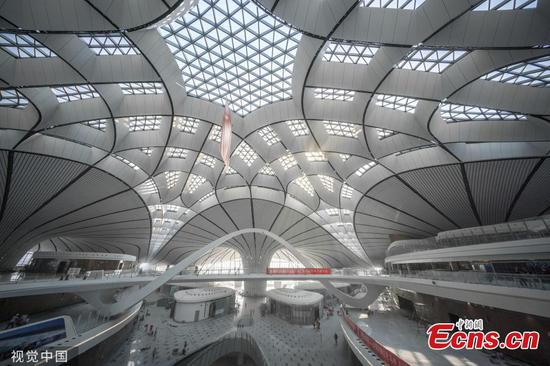 Beijing Daxing International Airport undergoes interior decorating
