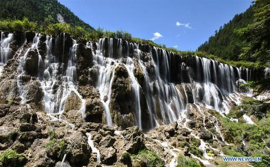 Scenery of Jiuzhaigou National Park in southwest China's Sichuan