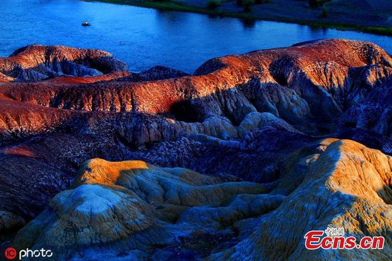 Amazing scenery of Rainbow Beach in Xinjiang