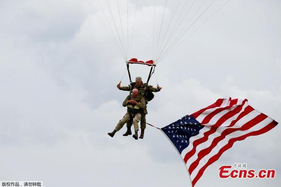 D-Day veteran parachutes into Normandy 75 years later