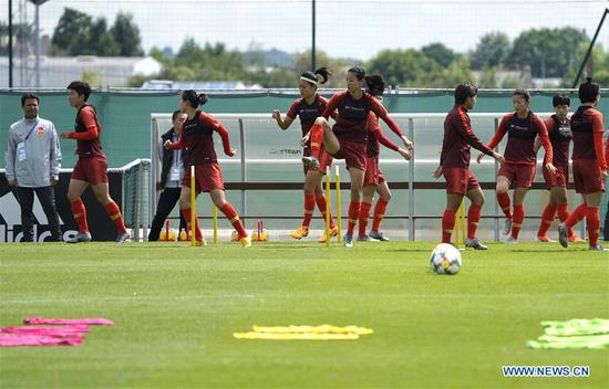 Chinese women footballers ready to challenge Germany at World Cup