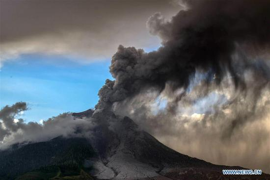 Mt. Sinabung erupts in western Indonesia