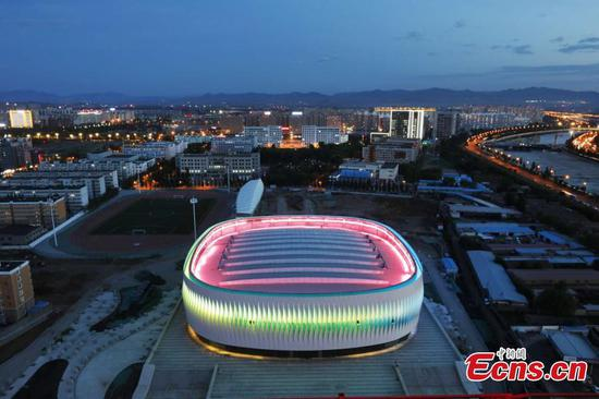 Large gymnasium built in northern Zhangjiakou city