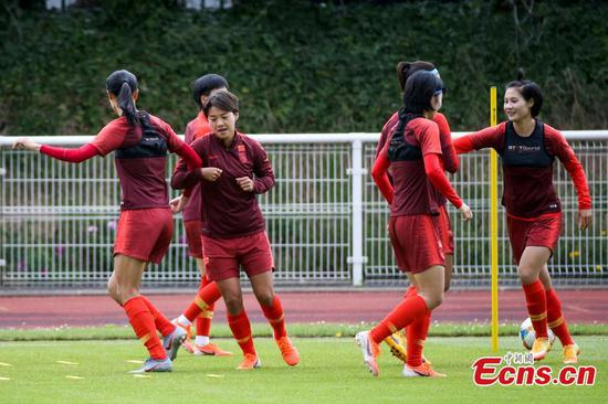 Players of China attend training session at 2019 FIFA Women's World Cup