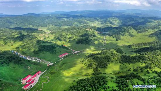 Scenery of Guanshan Grassland in Baoji, NW China's Shaanxi