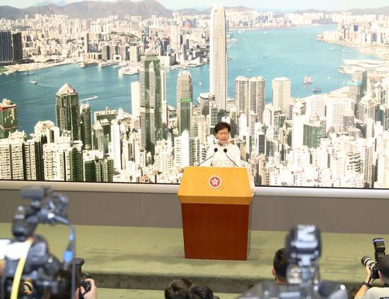 Beijing backs Lam, government of HKSAR