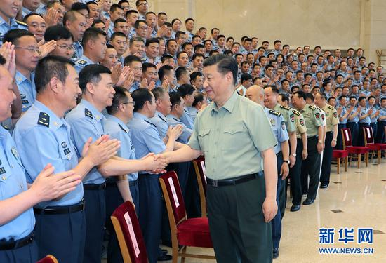 Xi meets with delegates to PLA Air Force Party Congress