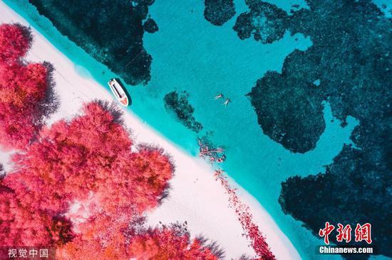 摄影师用红外色调捕捉马尔代夫的天堂