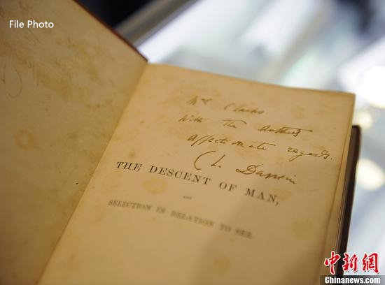 Copy of Darwin's 'Origin of Species' fetches over $500,000 in auction
