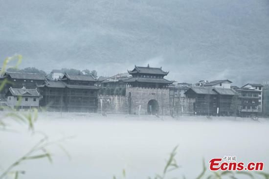 Picturesque ancient town in Chongqing