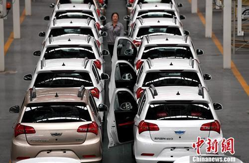 New energy cars in Beijing. (File photo/China News Service)