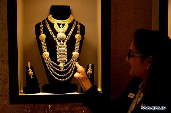 在孟加拉国达卡举行的黄金交易会